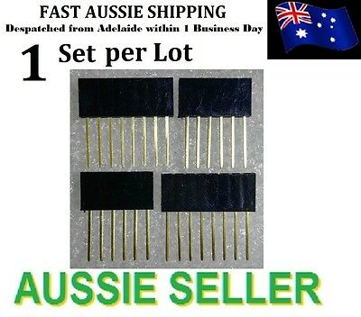 1 Set 2x 6 & 2x 8 Pin 2.5mm Stackable 11mm long Female Header for Adruino UNO R3
