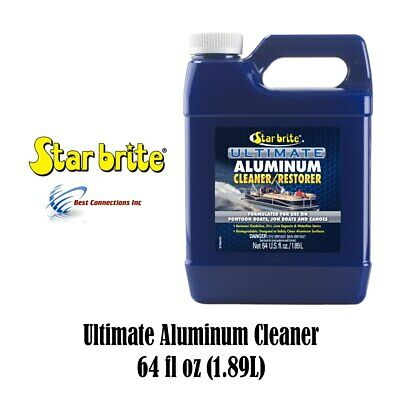 Starbrite Aluminum Cleaner Restorer 64 fl oz 87764 Pontoon Boat Canoe Cleaning