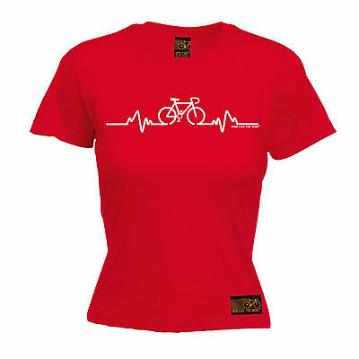 Cycling Bike Heart Beat Pulse WOMENS T-SHIRT Cyclist Bike Funny birthday gift