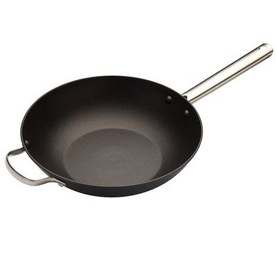Master Class Professional Lightweight Cast Iron Induction-Safe Wok, 30 cm 12""