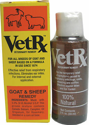 Vetrx Goat & Sheep Remedy, No. VET-GS-2Z-X,  by Goodwinol Products Corp