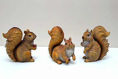 "5""H Tall Gace Home Resin Squirrel Statue Home Garden Decoration"