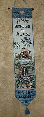 Boyds Bears Tapestry Bell Pull FRIENDSHIP IS UPLIFTING spring birdbath