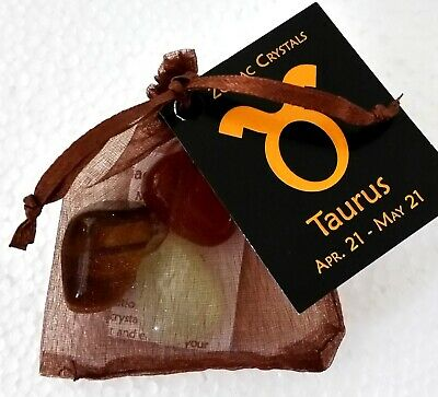 Zodiac Crystal Kit - TAURUS Astrology Gifts Magic Horoscope Star Sign Great Gift