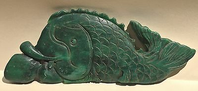 FA-0130-  Vintage early Chinese jade in shape of fish.  17th-18th century.