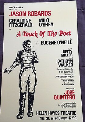 A Touch Of The Poet Jason Robards Window Card