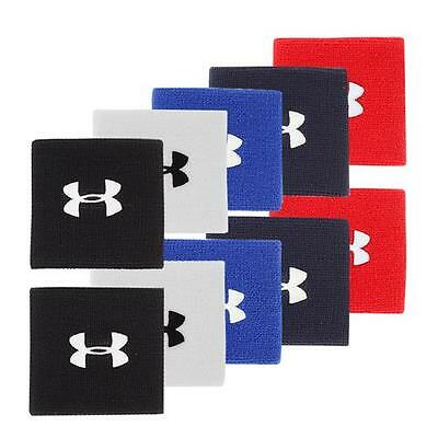 Under Armour Performance Wristband 3-inch  Colors Black Red Blue White NEW