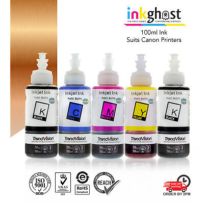 100ml Inks compatible with canon 650/650 IP7260 MG5460 MG6360 MG7160 MX726