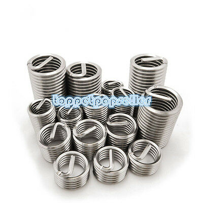 10Pcs M6/M8/M10/M12/M14 304Stainless Steel Helicoil Thread Repair Insert