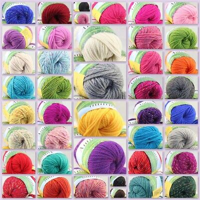 Sale new soft warm lot of 1 Ball X 50g Chunky Thick Wool Hand Knitting Yarn