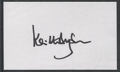 A 13cm x 7.5cm Plain White Card Signed by Keith Dyson. Newcastle United.