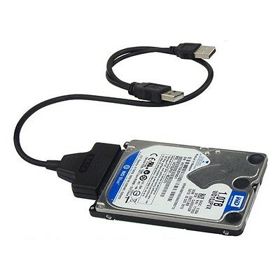 USB3.0+2.0 to SATA 22Pin Cable for 2.5inch HDD Hard Drive Solid State Drive AU