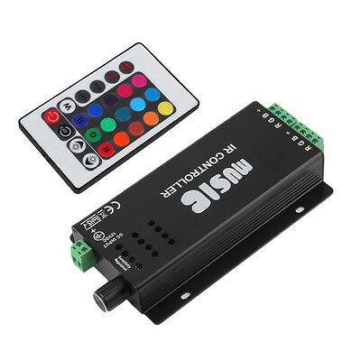 24 Key Music IR Remote Controller Sound Sensitive for RGB LED Strip Light AU