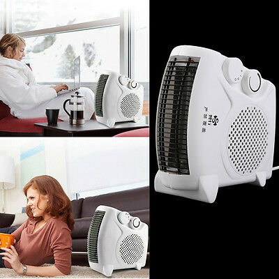 200W-500W Portable Room Floor Upright or Flat Electric Fan Heater Hot & Cold AU
