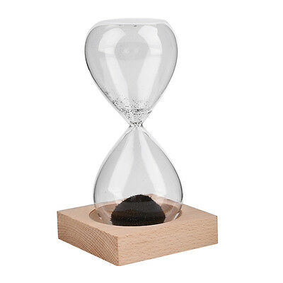 Hand-blown Glass Sand Magnet Magnetic Hourglass Timer Clock Gift Home Decor AU