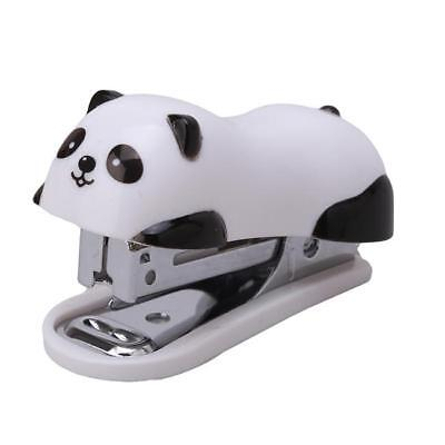 1Set Lovely Panda Mini Stapler Staples Set Paper Document Bookbinding Machine J