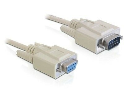 Delock Cable Serial RS-232 Sub-D9 male > RS-232 Sub-D9 female 2 m extension