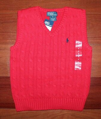 POLO RALPH LAUREN Boys Cable Vest - Size 5 - Authentic - BNEW