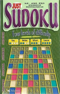 JUST SUDOKU No.69 __ PUZZLES WITH 4 LEVELS OF DIFFICULTY __ NEW __ FREEPOST UK
