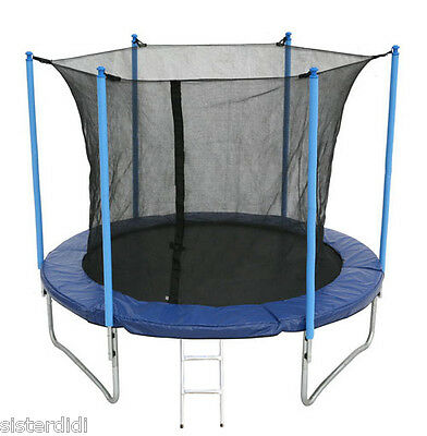 8ft Trampoline with internal safety net enclosure, ladder and rain cover 8ft