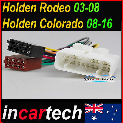 Holden Colorado ISO WIRING HARNESS adaptor cable connector plug lead loom wire