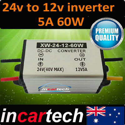 5A 60W DC 24V to 12V DC Power Converter Adapter Supply Car Truck accessories