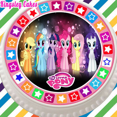 Large Cake Topper 7.5 Inch Edible Icing Pink My Little Pony Kc01193