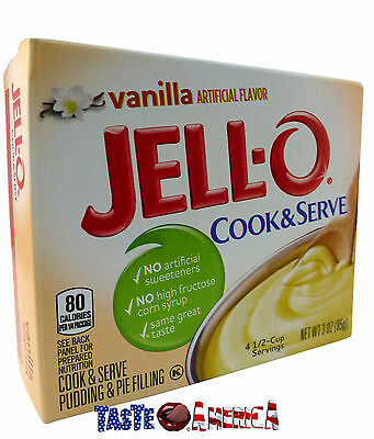 Jell-O Vanilla Flavour Cook & Serve Pudding & Pie Dessert Mix 85g Jello
