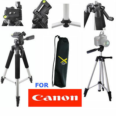 "Lightweight 57"" Photo Tripod For Canon EOS Rebel XS XSI XT XTI T3 T3I T5 20D"