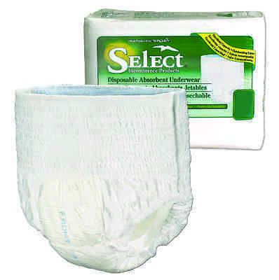 Tranquility Select Disposable Underwear, Adult, SMALL, 2604 - Pack of 22