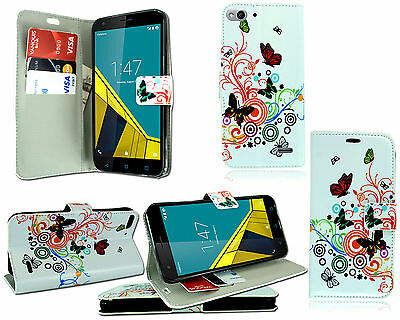 Flip Pu Leather Wallet Book Case Cover For Vodafone Smart Ultra 6