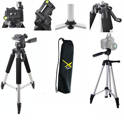 "57"" Professional Lightweight Tripod For Nikon Dslr Canon Eos Rebel Sony Alpha"