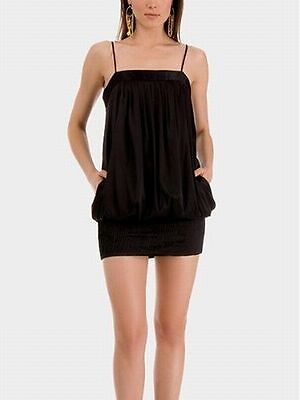 Guess By Marciano KASIA Bubble Hem Silk SEXY HOT Spaghetti Strap Mini Dress S