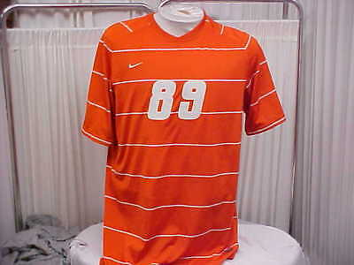 9fe2bfb765d NCAA Virginia Tech Hokies Mens Game Worn Player  89 Nike Orange Soccer  Jersey