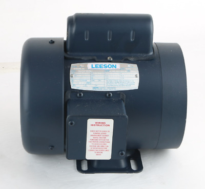 New-115838.00 Leeson 3/4HP Electric Motor 3450/2850 RPM D56Y Frame, Single Phase