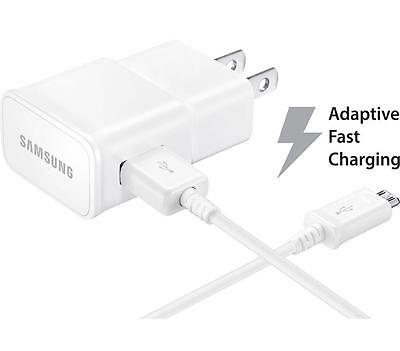 4 X OEM Samsung Galaxy S7 S6 Edge+ Note 5 Fast Adaptive Chargers & 5' USB Cables
