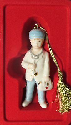 """Lenox Holiday DOCTOR Christmas 4"""" Ornament NEW in box 842515"""