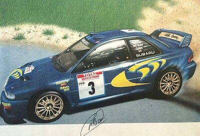 COLIN McRAE - Signed Art Poster