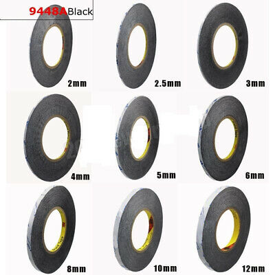 Double Adhesive Sided Tape  9448A Black Glue For Cellphone Repair 1mm-5mm Wide