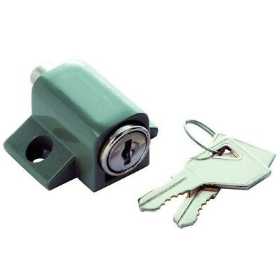 Gray Keyed Patio and Window Lock 1425 Hickory Hardware