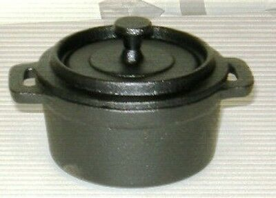 Casserole Cast Iron 9.2cm diameter4.5cm deep Guaranteed Quality 2pcs