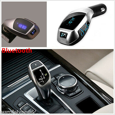 Wireless Blue-Tooth X5 Car FM Transmitter Music Player LCD Display Handsfree Kit