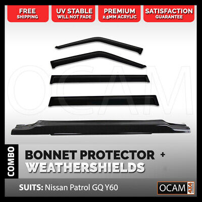 OCAM Bonnet Protector, Weathershields For Nissan Patrol GQ Ford Maverick 88-97