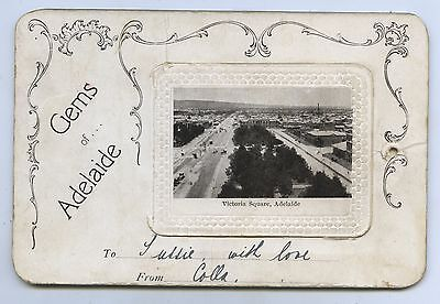 1906 Pt Bijou Postcard Fold Out Views Of Adelaide Sa Harding & Billing Publr M10