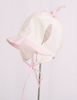100% Cotton girls sun hat bonnet with UV PROTECT Spring - Summer TIE UP Baby NEW
