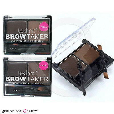 Technic Brow Tamer Brow Shaping Kit - Powder, Wax & Brush - Eyebrow Make Up Set