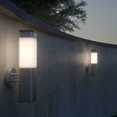Quality Solar Powered Stainless Steel Garden LED Wall Light High Bright