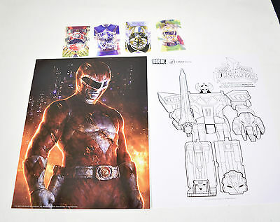 Mighty Morphin Power Rangers Launch Party Kit Poster Stickers 0 White Coloring