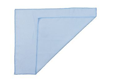 "12p Microfiber Towel Diamond Weave Mirror Window Glass Cleaning Rag 16""x16"" Blue"
