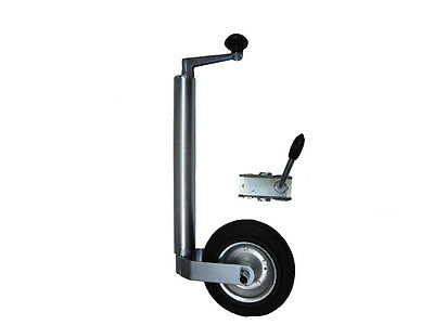 48mm JOCKEY WHEEL WITH CLAMP for CARAVAN TRAILER PLANT CONTAINER